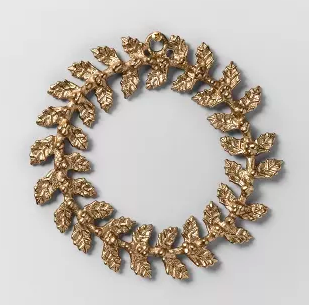 Wreath gold metal leaf—Opalhouse. (Photo: Target)