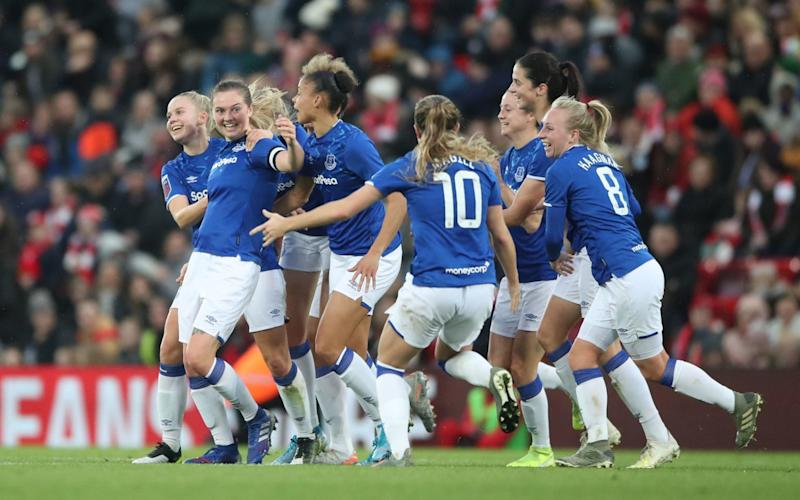 Lucy Graham scored the only goal of the game at Anfield - PA