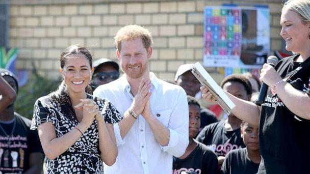 PHOTO: Prince Harry Duke of Sussex and Meghan Markle Duchess of Sussex during a visit to the Justice desk, an NGO in the township of Nyanga in Cape Town, South Africa as they begin their tour of the region, Sept 26, 2019. (ALPR/AdMedia/SIPA via Newscom)