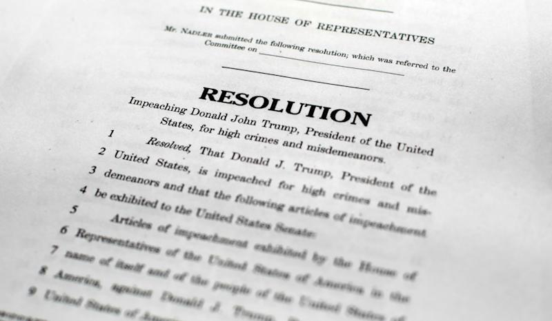 The House articles of Impeachment