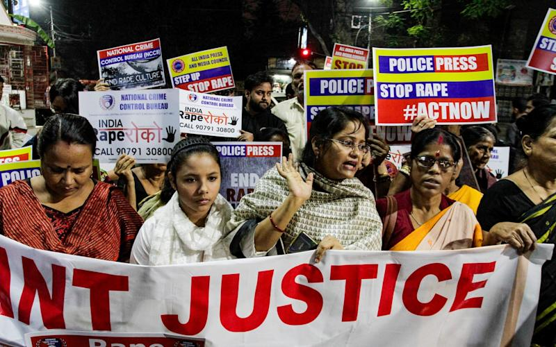 There have been protests across India this week in response to several attacks - AP