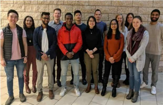 The MD AIDE leadership team [2019-2020 team pictured here] is compiled of medical students at University of Alberta.  (Supplied by Prachi Shah - image credit)
