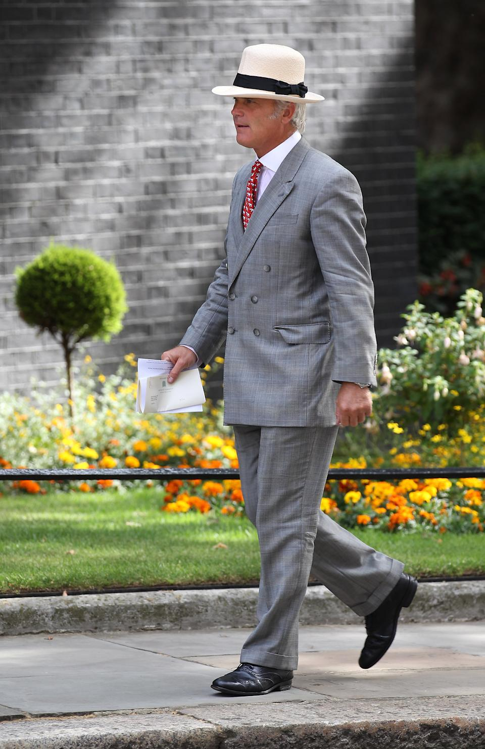 LONDON, ENGLAND - JULY 06: Desmond Swayne Parliamentary Secretary to Prime Minister David Cameron arrives in Downing Street on July 6, 2010 in London, England. Later Prime Minister David Cameron will chair a meeting of the National Security Council. (Photo by Peter Macdiarmid/Getty Images)