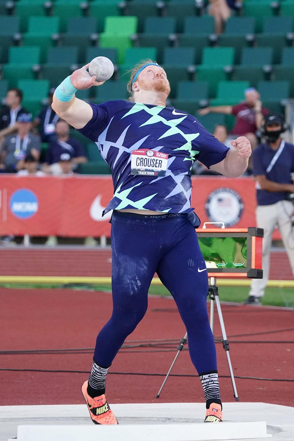 Ryan Crouser, who set a world shot put record at the U.S. Olympic Trials, won the gold medal at the 2016 games in Brazil.