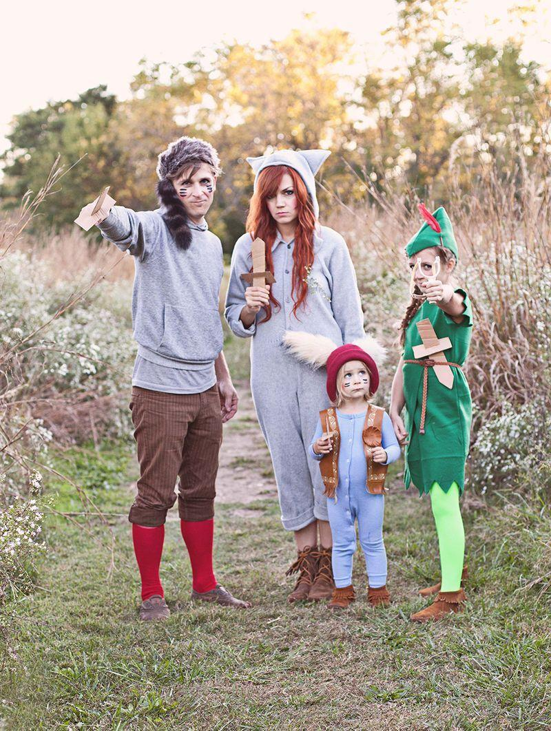 """<p>Ever want to jet off to Neverland? We get it. For the next best thing, dress the kids up as Peter Pan and his lost boys. You can throw Tinkerbell and Wendy into the mix as well if you've got enough people. </p><p> <a class=""""link rapid-noclick-resp"""" href=""""https://www.amazon.com/Childs-Classic-Peter-Costume-Large/dp/B07SKLN5BP/?tag=syn-yahoo-20&ascsubtag=%5Bartid%7C10055.g.33300912%5Bsrc%7Cyahoo-us"""" rel=""""nofollow noopener"""" target=""""_blank"""" data-ylk=""""slk:SHOP PETER PAN COSTUMES"""">SHOP PETER PAN COSTUMES</a></p><p><em><a href=""""https://abeautifulmess.com/2013/10/peter-pan-and-the-lost-boys-costume-diy.html"""" rel=""""nofollow noopener"""" target=""""_blank"""" data-ylk=""""slk:Get the tutorial at A Beautiful Mess »"""" class=""""link rapid-noclick-resp"""">Get the tutorial at A Beautiful Mess »</a></em> </p><p><strong>RELATED:</strong> <a href=""""http://www.goodhousekeeping.com/holidays/halloween-ideas/g4771/disney-halloween-costumes/"""" rel=""""nofollow noopener"""" target=""""_blank"""" data-ylk=""""slk:40 Best Disney Costumes The Entire Family Will Love"""" class=""""link rapid-noclick-resp"""">40 Best Disney Costumes The Entire Family Will Love</a></p>"""