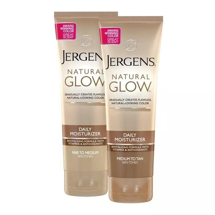<p>If you want to have an everyday glow, this <span>Jergens Natural Glow Revitalizing Lotion</span> ($11) is a solid choice. Not only does it build up over time, but it also keeps you moisturized.</p>