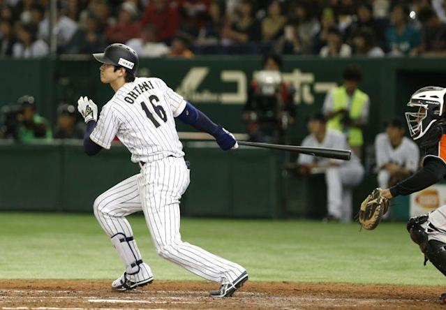Shohei Otani is a threat from the batter's box and the pitching mound. (AP)