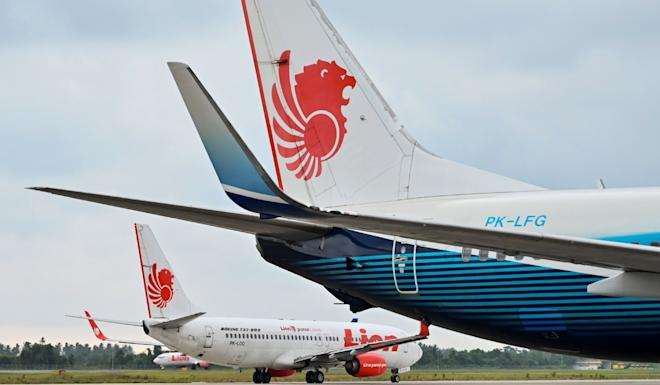 Lion Air Boeing 737-800 aircraft at the airport in Padang, Indonesia. Photo: AFP