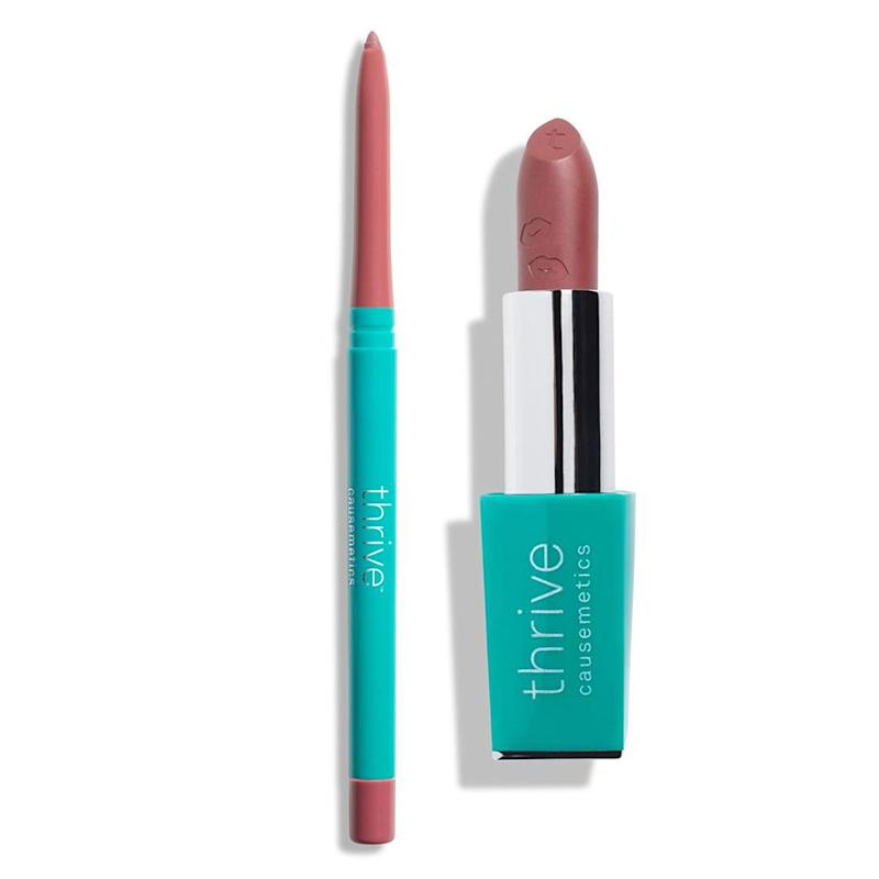 thrive cosmetics lipstick and lipliner