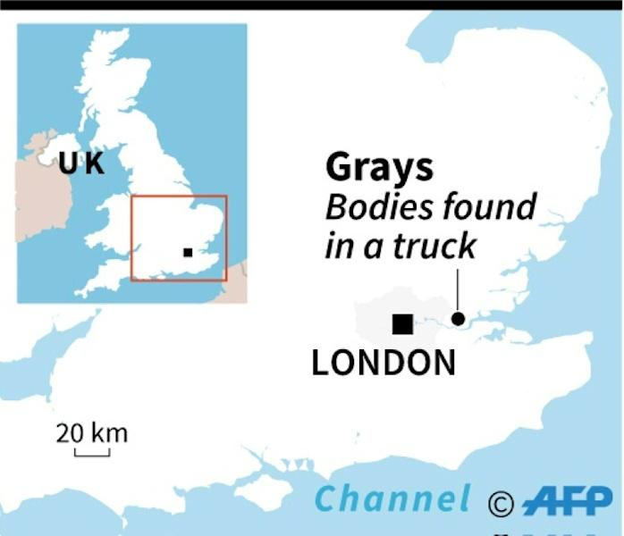 Police were called in the early hours of Wednesday morning after ambulance crews found the 39 bodies in the truck
