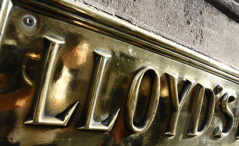 A Lloyds plaque is seen on offices in The City of London April 23, 2009. REUTERS/Toby Melville