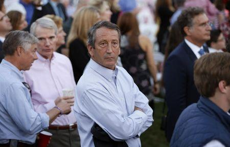 Rep. Sanford attends a picnic for members of Congress at the Whtie House in Washington