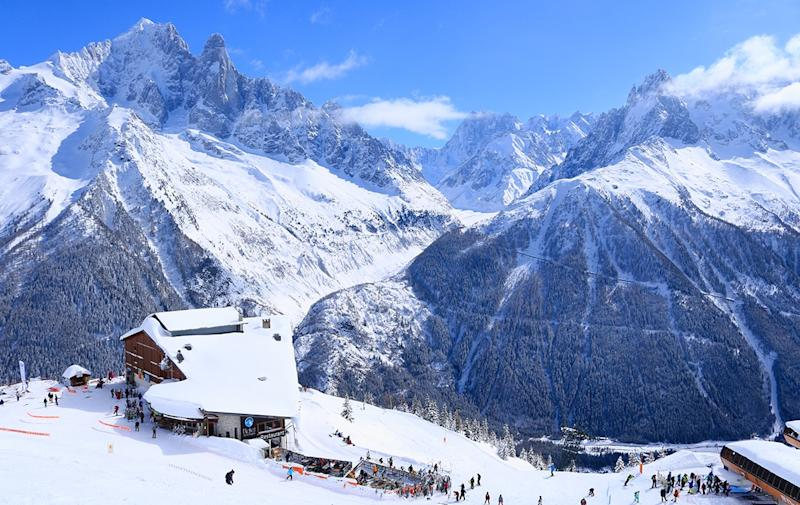 chamonix in winter - Credit: tim hughes