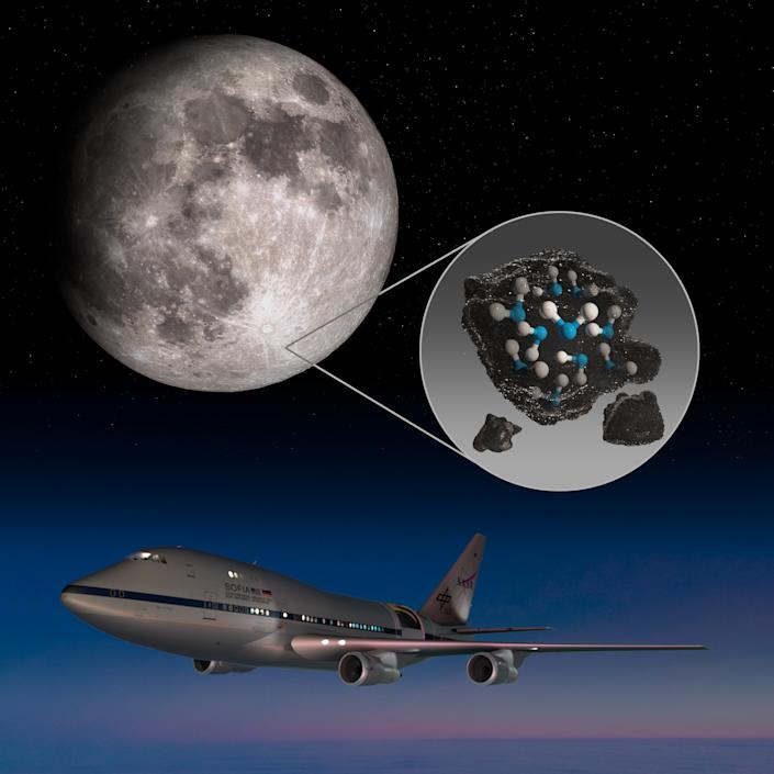 The find raises hopes for exploration of the Moon (and even habitation), as astronauts may not need to carry water with them (Nasa)