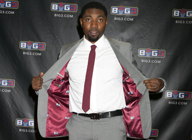 Roger Mason Jr. flashed a custom suit at the BIG3 Championship in Las Vegas this past August. (AP)