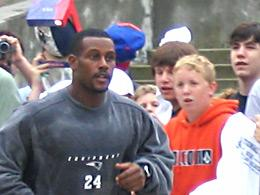 Ty Law at New England camp
