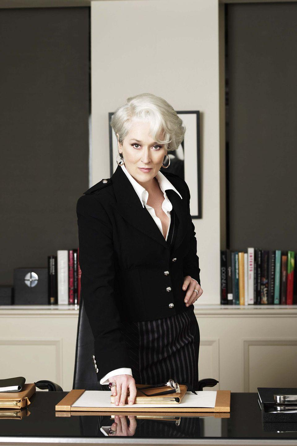 <p>If you're looking for officewear inspiration, why not learn from the best? Meryl Streep's memorable performance as Runway editor Miranda Priestly is filled with glamorous suits, incredible coats and plenty of dramatic sunglasses.</p>