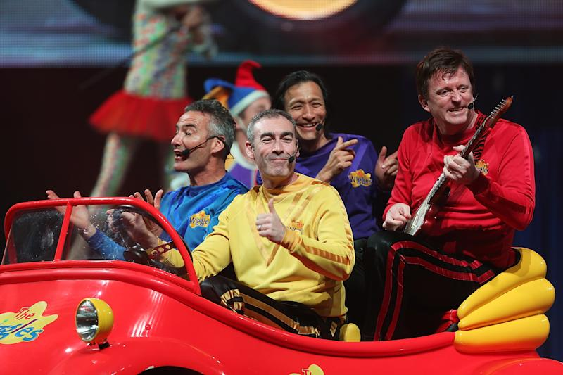 Original The Wiggles band perform in the Big Red Car