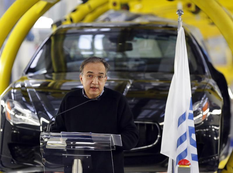 Italian car maker Fiat's Chief Executive Sergio Marchionne speaks during the Maserati new opening plant in Turin