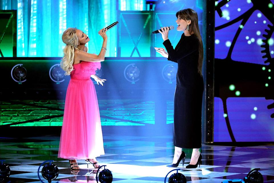 """<p>The show closed (well, almost) with three emotionally charged duets reuniting past Broadway costars, starting with <a href=""""https://ew.com/creative-work/wicked/"""" rel=""""nofollow noopener"""" target=""""_blank"""" data-ylk=""""slk:Wicked"""" class=""""link rapid-noclick-resp""""><em>Wicked</em></a>'s <a href=""""https://ew.com/tag/idina-menzel"""" rel=""""nofollow noopener"""" target=""""_blank"""" data-ylk=""""slk:Idina Menzel"""" class=""""link rapid-noclick-resp"""">Idina Menzel</a> and <a href=""""https://ew.com/tag/kristin-chenoweth/"""" rel=""""nofollow noopener"""" target=""""_blank"""" data-ylk=""""slk:Kristin Chenoweth"""" class=""""link rapid-noclick-resp"""">Kristin Chenoweth</a>, who performed the blockbuster musical's touching farewell tune """"For Good."""" They were followed by original <a href=""""https://ew.com/creative-work/rent/"""" rel=""""nofollow noopener"""" target=""""_blank"""" data-ylk=""""slk:Rent"""" class=""""link rapid-noclick-resp""""><em>Rent</em></a> stars Adam Pascal and <a href=""""https://ew.com/tag/anthony-rapp/"""" rel=""""nofollow noopener"""" target=""""_blank"""" data-ylk=""""slk:Anthony Rapp"""" class=""""link rapid-noclick-resp"""">Anthony Rapp</a>, who sang """"What You Own""""; and <a href=""""https://ew.com/tag/brian-stokes-mitchell/"""" rel=""""nofollow noopener"""" target=""""_blank"""" data-ylk=""""slk:Brian Stokes Mitchell"""" class=""""link rapid-noclick-resp"""">Brian Stokes Mitchell</a> and ceremony co-host <a href=""""https://ew.com/tag/audra-mcdonald/"""" rel=""""nofollow noopener"""" target=""""_blank"""" data-ylk=""""slk:Audra McDonald"""" class=""""link rapid-noclick-resp"""">Audra McDonald</a>, who performed <em>Ragtime</em>'s powerful number """"Wheels of a Dream."""" No dis to Freestyle Love Supreme, who <em>actually</em> closed out the show with a rap number recapping the ceremony, but this was the perfect way to end a night celebrating the return of Broadway.</p>"""