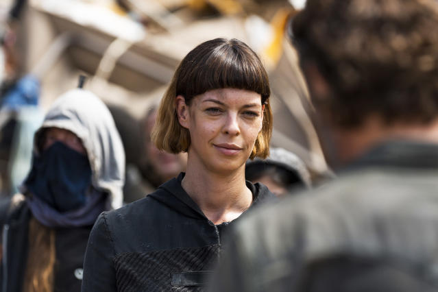 Pollyanna McIntosh as Jadis in AMC's ' <i>The Walking Dead'</i> (Photo: Gene Page/AMC)