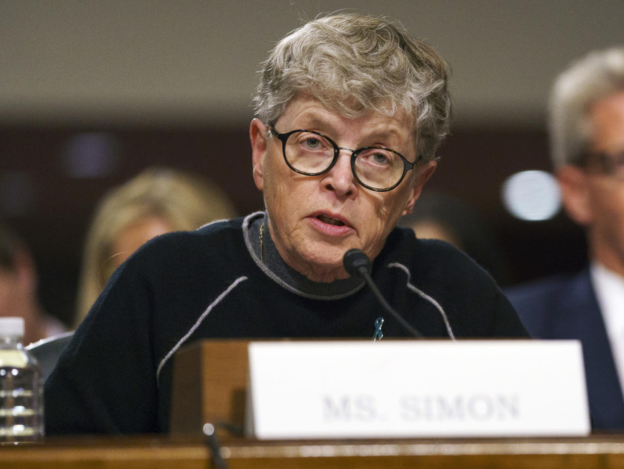 Michigan State President Lou Anna Simon has been charged with lying to police conducting an investigation of Larry Nassar's sexual abuse. (AP)