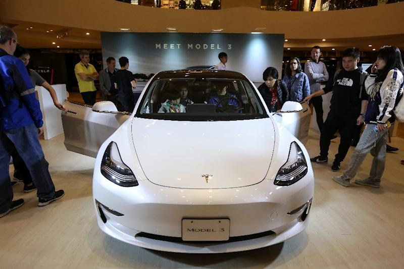 Tesla broke ground in January on a factory in Shanghai -- the company's biggest overseas move yet (AFP Photo/VIVEK PRAKASH)