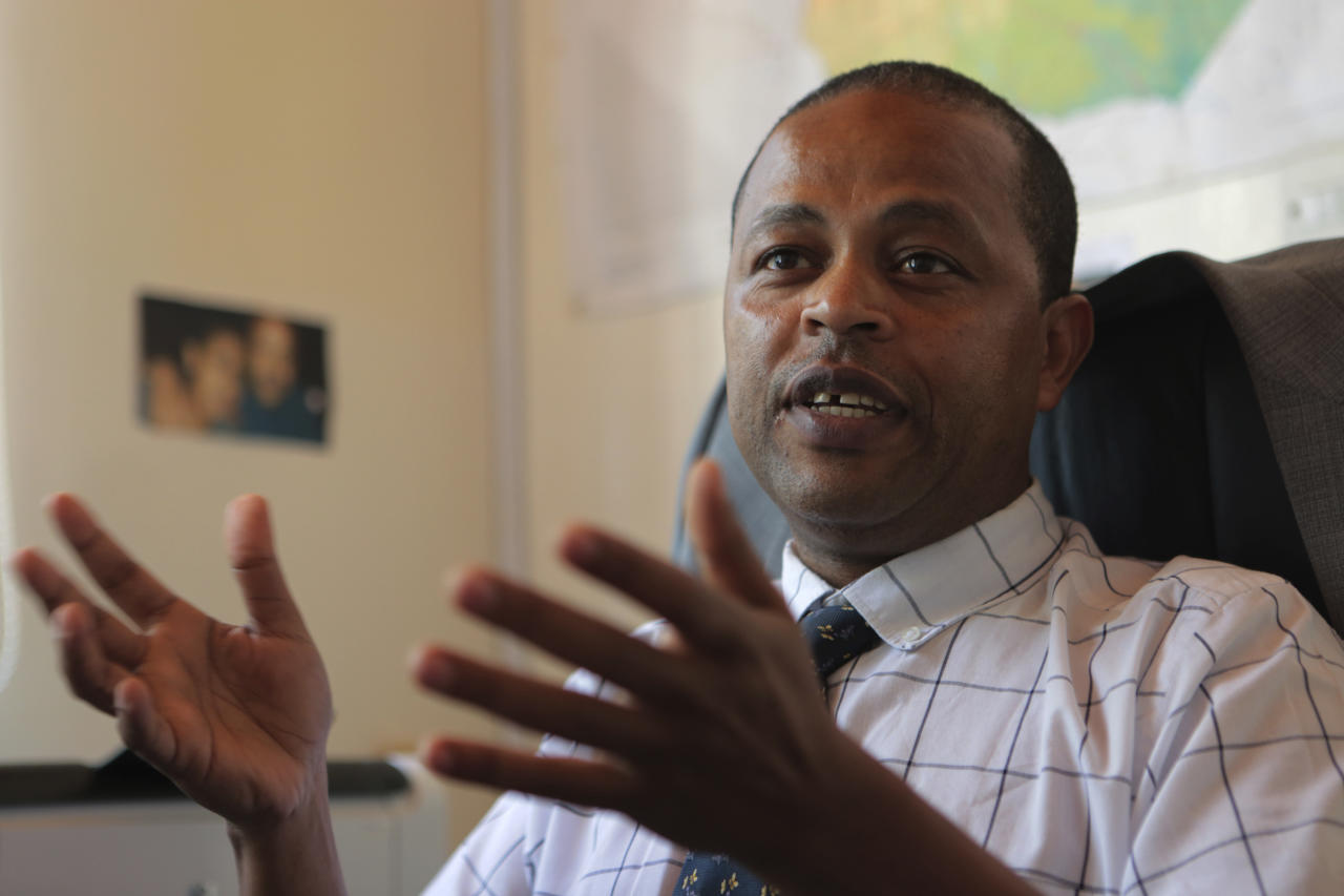 <p> Abebe Shibru, Marie Stopes International Country Director for Zimbabwe speaks to the Associated Press in Harare, Tuesday, Jan, 23, 2018, where the heath system is in tatters amid a plummeting economy, and Marie Stopes used to treat at least 150,000 women per year, but now its outreach sites are cut in half because of funding problems. US President Donald Trump's dramatic expansion of a ban on U.S. funding to foreign organizations that provide abortions has left impoverished women around the world without treatment for HIV, malaria and other diseases, health groups say.(AP Photo/Tsvangirayi Mukwazhi) </p>