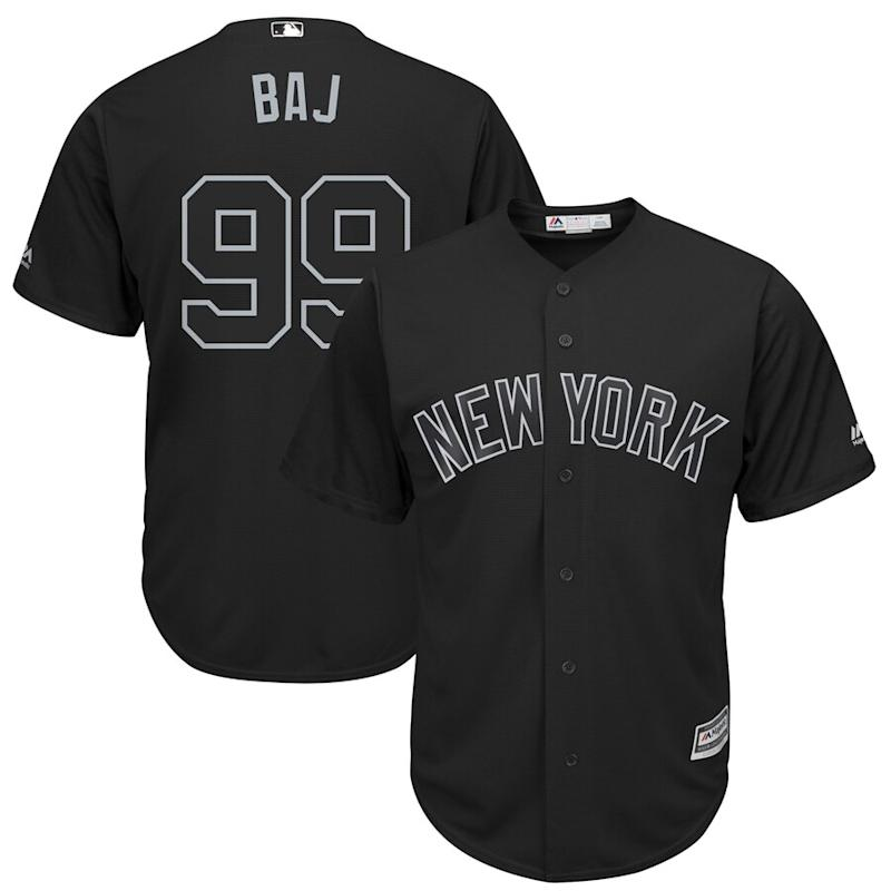 "Aaron Judge ""BAJ"" New York Yankees 2019 Players' Weekend Jersey"