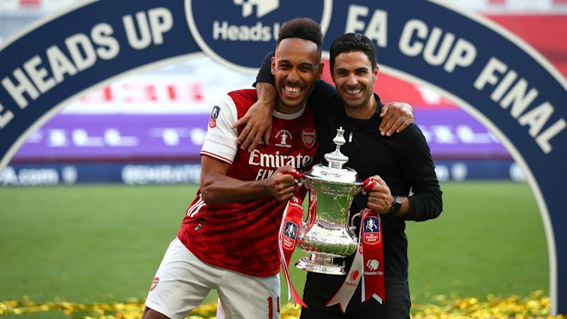 Cole and Wright urge Arsenal to find 'top names' to keep Wembley hero Aubameyang sweet