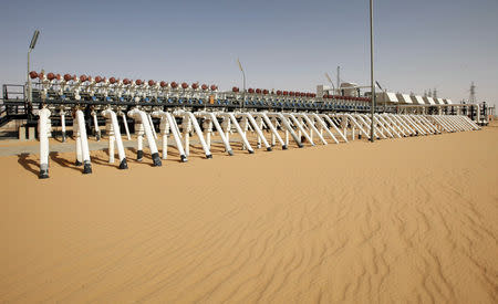 FILE PHOTO: A general view shows Libya's El Sharara oilfield