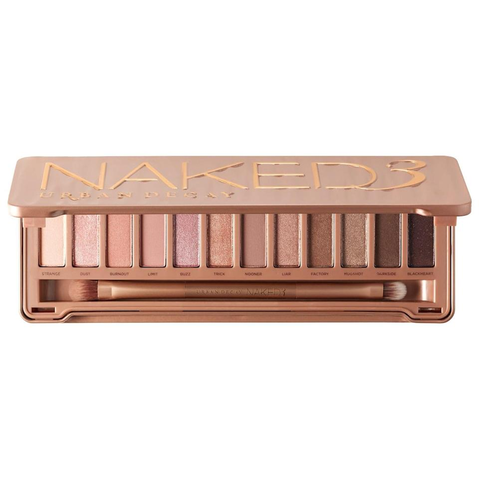 """<h3><a href=""""https://www.sephora.com/product/naked3-P384099?icid2=products%20grid:p384099"""" rel=""""nofollow noopener"""" target=""""_blank"""" data-ylk=""""slk:Urban Decay Naked3 Palette"""" class=""""link rapid-noclick-resp"""">Urban Decay Naked3 Palette</a></h3><br>Rose gold eyeshadow is still majorly trending, and you can't go wrong with this one. """"Urban Decay's eyeshadow palette is a classic, and a great addition to anyone's makeup bag,"""" Register says. """"The neutral colors aren't too crazy for low-key Capricorn, so they'll be sure to love this palette.""""<br><br><strong>Urban Decay</strong> Naked3 Palette, $, available at <a href=""""https://go.skimresources.com/?id=30283X879131&url=https%3A%2F%2Fwww.sephora.com%2Fproduct%2Fnaked3-P384099"""" rel=""""nofollow noopener"""" target=""""_blank"""" data-ylk=""""slk:Sephora"""" class=""""link rapid-noclick-resp"""">Sephora</a>"""