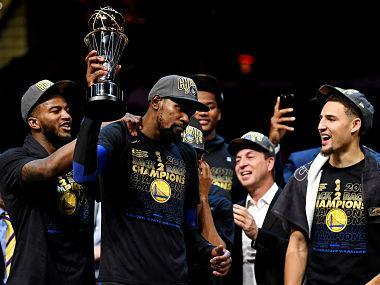 Golden State Warriors forward Kevin Durant was named the NBA Finals Most Valuable Player for the second consecutive year on Friday.