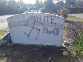 Hate crime: Gurdwara in US defaced with swastika graffiti