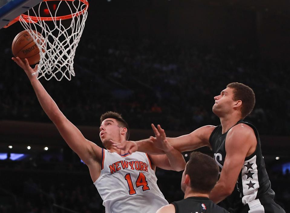 Willy Hernangomez's play at center has been a bright spot for the Knicks. (Getty Images)