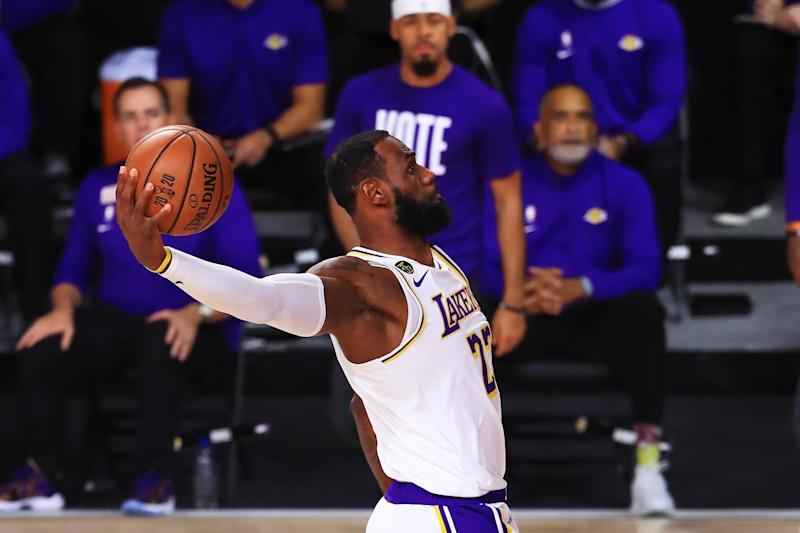 Game 6 of the NBA Finals was a slam dunk for LeBron James and the Los Angeles Lakers. (Mike Ehrmann/Getty Images)