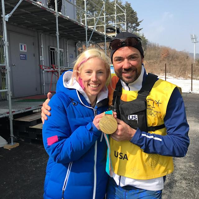 <p>kikkanimal: Just a few medal sharing moments so far…<br> #ittakesavillage #teamsport #soluckytohavethem #grateful #pyeongchang2018<br> (Photo via Instagram/kikkanimal) </p>