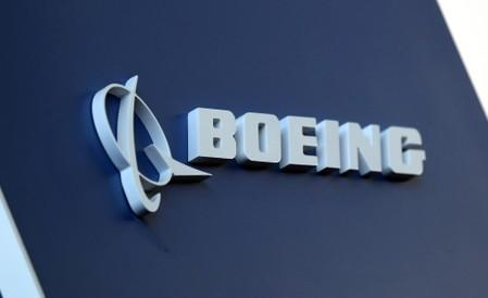 FILE PHOTO: Boeing logo LABACE in Sao Paulo