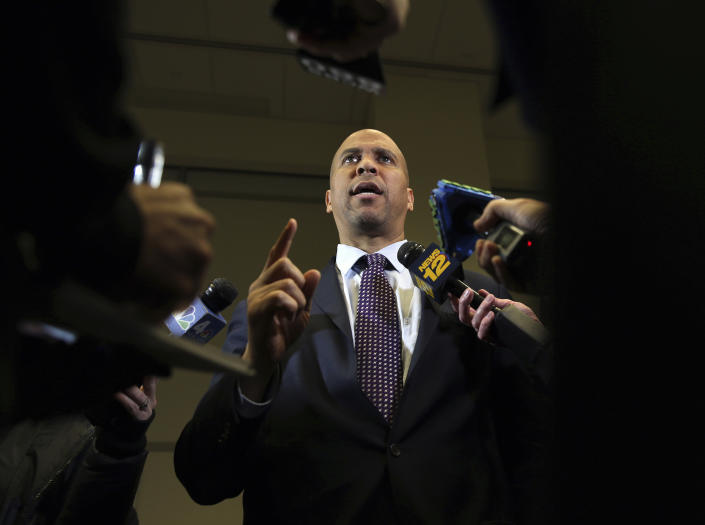 """Booker said he wants to bring """"people together back to our common ideals and common principles."""" (Photo: Mel Evans/AP)"""