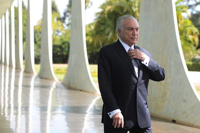 """Brazilian President Michel Temer, seen at Alvorado Palace in 2016, said, """"the energy wasn't good"""" in the house"""
