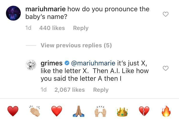 Grimes Offers Alternate Way To Pronounce Son X Æ A-12's Name