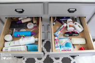 """<p>If you've ever spent 10 precious morning minutes trying to find your concealer in your <a href=""""http://thesummeryumbrella.com/2015/07/dollar-store-bathroom-drawer-organization/"""" rel=""""nofollow noopener"""" target=""""_blank"""" data-ylk=""""slk:unorganized drawers"""" class=""""link rapid-noclick-resp"""">unorganized drawers</a>, you know it's one of the most frustrating situations ever.</p>"""