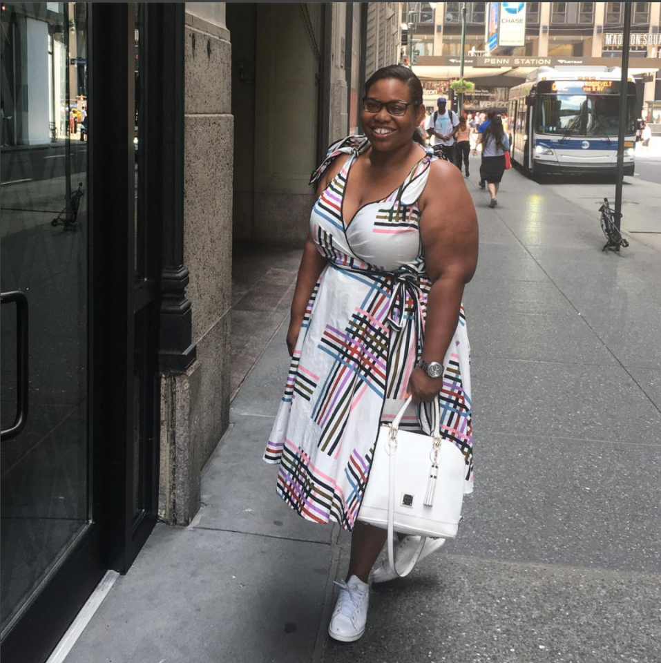 """<p>""""<span>It's officially a heat wave here in NYC so for me that means no makeup and sleeves!"""" (Photo: Instagram/styleoversleeves)</span> </p>"""