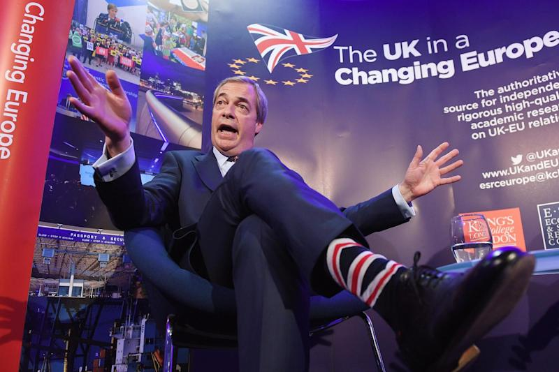 Nigel Farage was a defining figure in the push for Britain's departure from the European Union (file photo): EPA