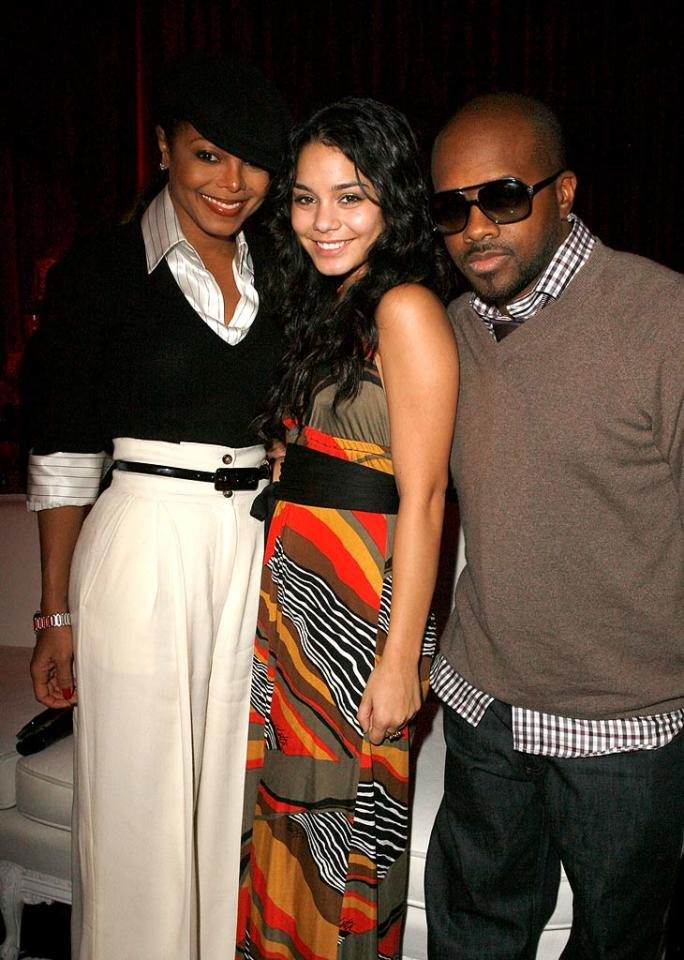 "Although it's been a little too warm to wear sweaters in L.A., we love Janet Jackson's and Jermaine Dupri's (pictured with Vanessa Hudgens) fall style. Jeff Vespa/<a href=""http://www.wireimage.com"" target=""new"">WireImage.com</a> - October 24, 2007"
