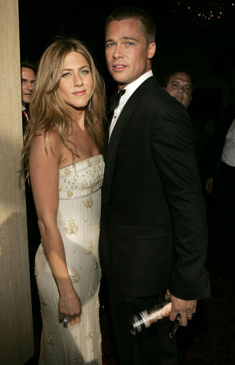 "<p>If there's any celebrity wedding we wish we were at, it's this one! Brad Pitt and Jennifer Aniston's 2000 nuptials were the hottest ticket in Hollywood at the time, leading them to spend <a href=""https://www.popsugar.com/celebrity/Jennifer-Aniston-Brad-Pitt-Wedding-Facts-43462106"" rel=""nofollow noopener"" target=""_blank"" data-ylk=""slk:$100,000 alone on security"" class=""link rapid-noclick-resp"">$100,000 alone on security</a> for the event. At the end of the day, the wedding cost $1 million. They divorced in 2005. </p>"
