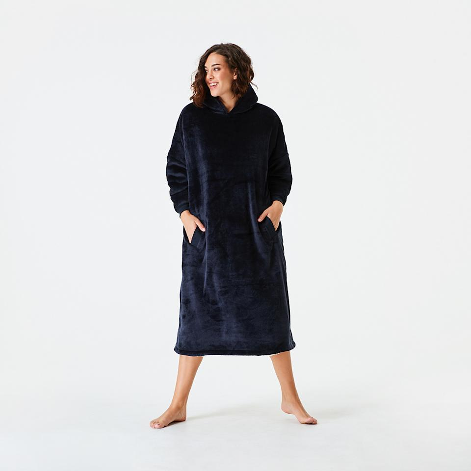 Kmart's $29 dupe of the Oodie hooded blanket