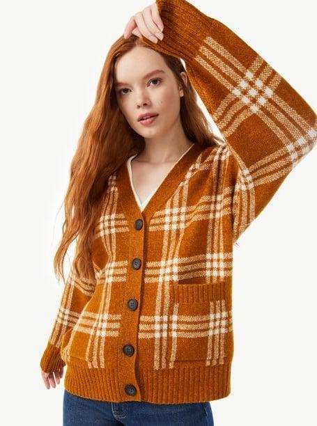 <p>Cardigans are a hot commodity right now, which is why the <span>Free Assembly Women's Grandpa Plaid Fuzzy Cardigan</span> ($28) is high up on our Walmart shopping list.</p>