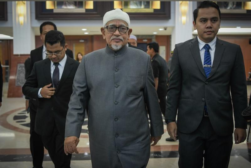 Hadi said the most interesting thing seen was when Tanjung Piai's Malay majority voters chose MCA, while Pakatan Harapan's Malay-Muslim candidate from Parti Pribumi Bersatu ended up getting rejected. — Picture by Hari Anggara