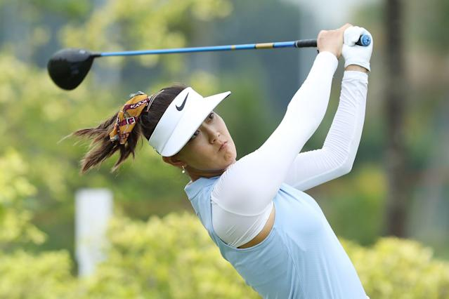 "<a class=""link rapid-noclick-resp"" href=""/golf/lpga/players/Michelle+Wie/4963"" data-ylk=""slk:Michelle Wie"">Michelle Wie</a> announced her engagement Sunday night. (Photo by Lionel Ng/Getty Images)"